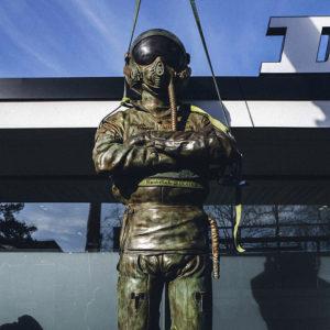 Giant Bronze Pilot Sculpture