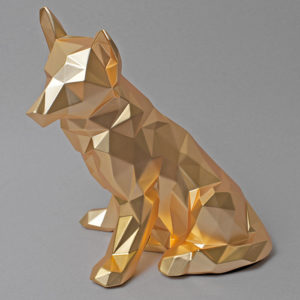 Faceted Dog Sculpture